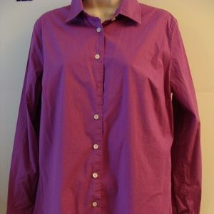 J.Crew L long sleeve button down shirt magenta